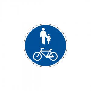 D7E - Pista obrigatória para peões e velocípedes - Sinais de Obrigação