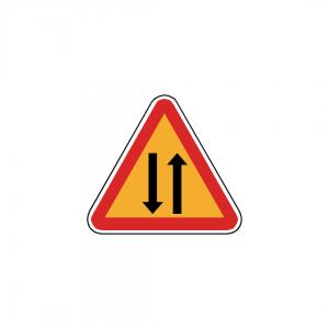 AT10-A25 - Trânsito nos dois sentidos - AT | Sinais de Perigo