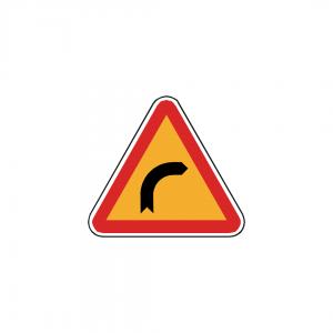 AT5-A1A - Curva à direita - AT | Sinais de Perigo