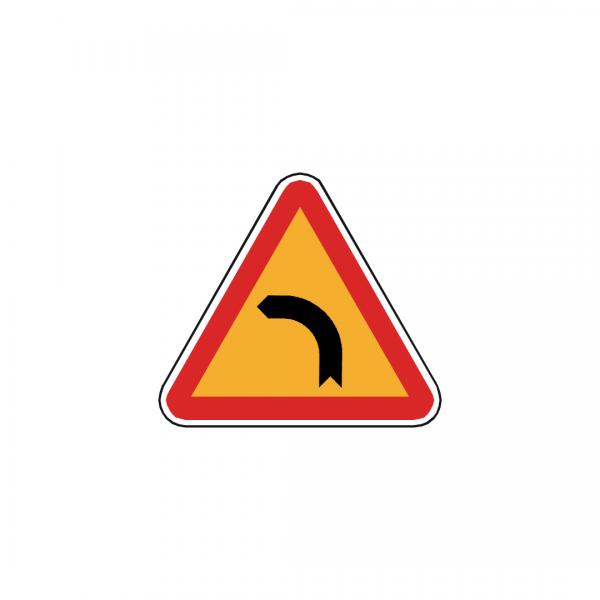 AT6-A1B - Curva à esquerda - AT | Sinais de Perigo