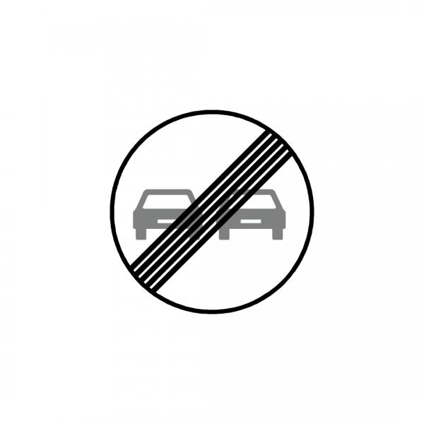 BT10-C20C - Fim da proibição de ultrapassar - BT | Sinais de Proibição