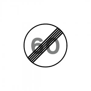 BT11-C20B - Fim da limitação de velocidade - BT | Sinais de Proibição