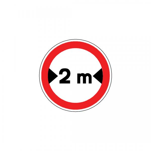 BT2-C8 - Trânsito proibido a veículos de largura superior a …m - BT | Sinais de Proibição