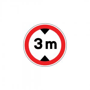 BT3-C9 - Trânsito proibido a veículos de altura superior a …m - BT | Sinais de Proibição