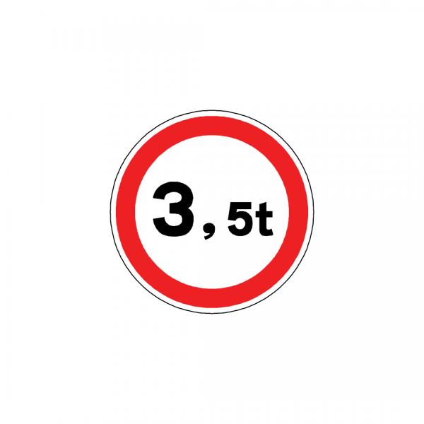 BT4-C6 - Trânsito proibido a veículos de peso total superior a …t - BT | Sinais de Proibição