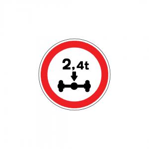 BT5-C5 - Trânsito proibido a veículos de peso por eixo superior a …t - BT | Sinais de Proibição