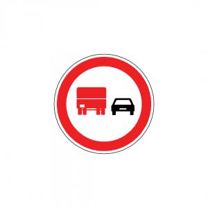 BT7B-C14B - Proibição de ultrapassar para automóveis pesados - BT | Sinais de Proibição