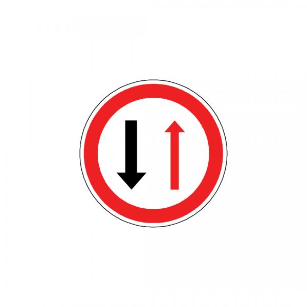 BT9-B5 - Cedência de passagem nos estreitamentos da faixa de rodagem - BT | Sinais de Proibição