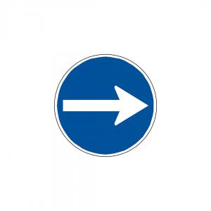 CT1-D1A - Sentido obrigatório - CT | Sinais de Obrigação