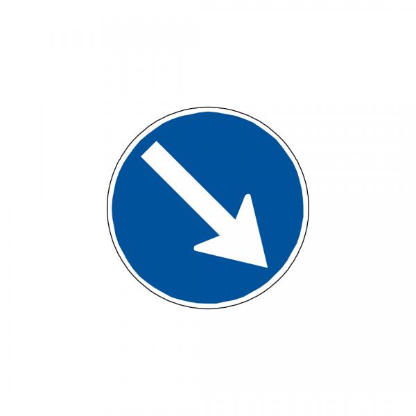CT4-D3A - Obrigação de contornar placa ou obstáculo - CT | Sinais de Obrigação