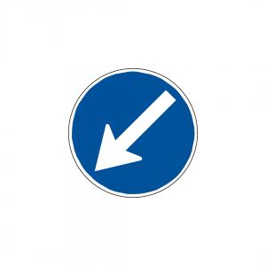 CT4A-D3B - Obrigação de contornar placa ou obstáculo - CT | Sinais de Obrigação