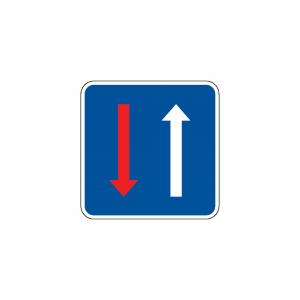 DT1-B6 - Prioridade nos estreitamentos da faixa de rodagem - DT | Sinais Simples de Indicação