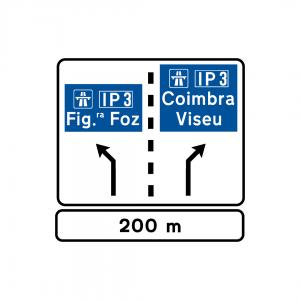 E2 - Destinos de saída - Sinais de Seleção de Vias