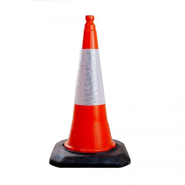 Cones - ET6 75 - 50 - Cone plástico com banda branca retrorefletora
