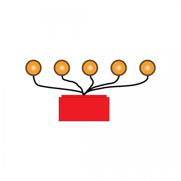 ET9 - Conjunto de lanternas sequenciais com fios - Dispositivos Complementares