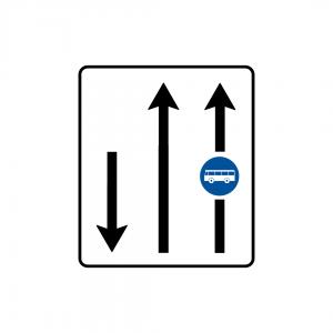 F2 - Via de trânsito reservada a veículos de transporte público - Sinais de Afetação de Vias