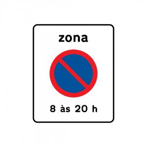 G2B - Zona de estacionamento proibido - Sinais de Zona