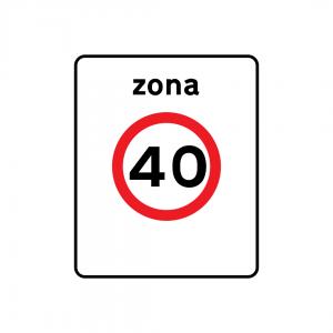 G4 - Zona de velocidade limitada - Sinais de Zona