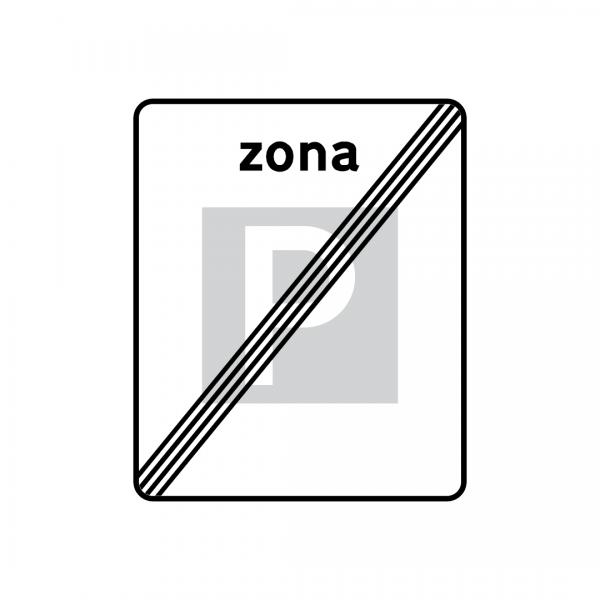 G6 - Fim de zona de estacionamento autorizado - Sinais de Zona