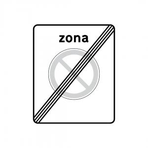 G7A - Fim de zona de paragem e estacionamento proibidos - Sinais de Zona