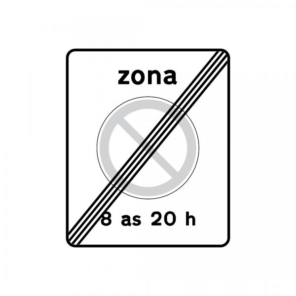G7B - Fim de zona de paragem e estacionamento proibidos - Sinais de Zona