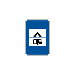H14C - Parque misto para campismo e reboques de campismo - Sinais de Informação