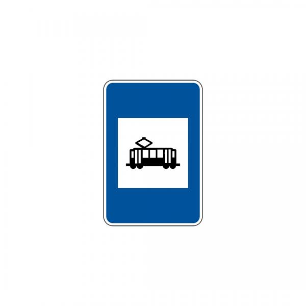 H20B - Paragem de veículos de transporte coletivo de passageiros que transitem sobre carris - Sinais de Informação