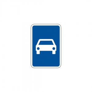 H25 - Via reservada a automóveis e motociclos - Sinais de Informação