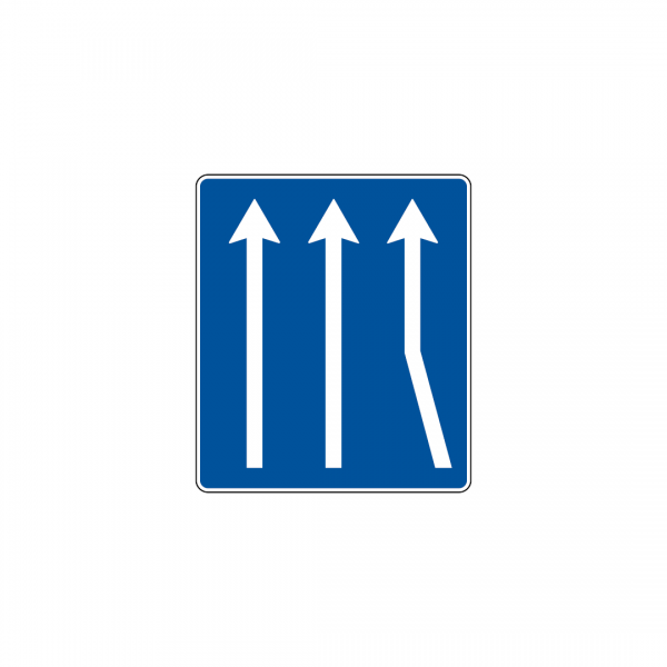 H31B - Número e sentido das vias de trânsito - Sinais de Informação