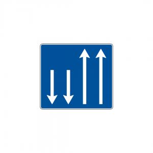 H31C - Número e sentido das vias de trânsito - Sinais de Informação