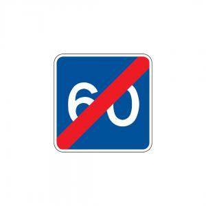 H37 - Fim de velocidade recomendada - Sinais de Informação