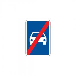H39 - Fim de via reservada a automóveis e motociclos - Sinais de Informação