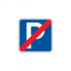 H40 - Fim de estacionamento autorizado - Sinais de Informação