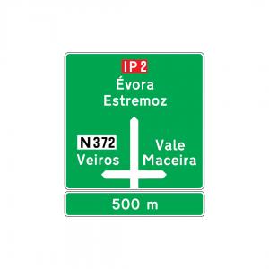 I2A - Pré-aviso gráfico (Interseção de nível) - Sinais de Pré-Sinalização