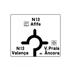 I2B - Pré-aviso gráfico (Rotunda) - Sinais de Pré-Sinalização
