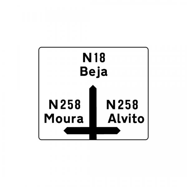 I2C - Pré-aviso gráfico (Interseção de nível) - Sinais de Pré-Sinalização