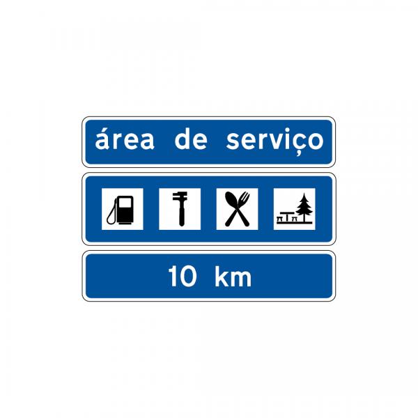 I4A - Aproximação de área de serviço - Sinais de Pré-Sinalização