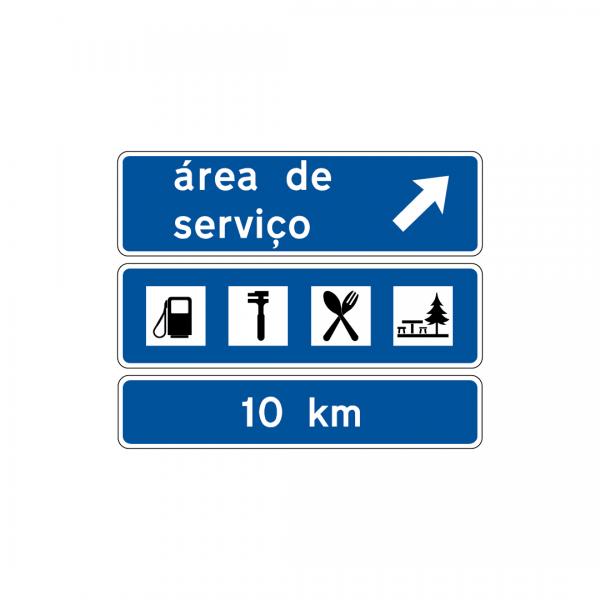 I4B - Aproximação de saída para área de serviço - Sinais de Pré-Sinalização