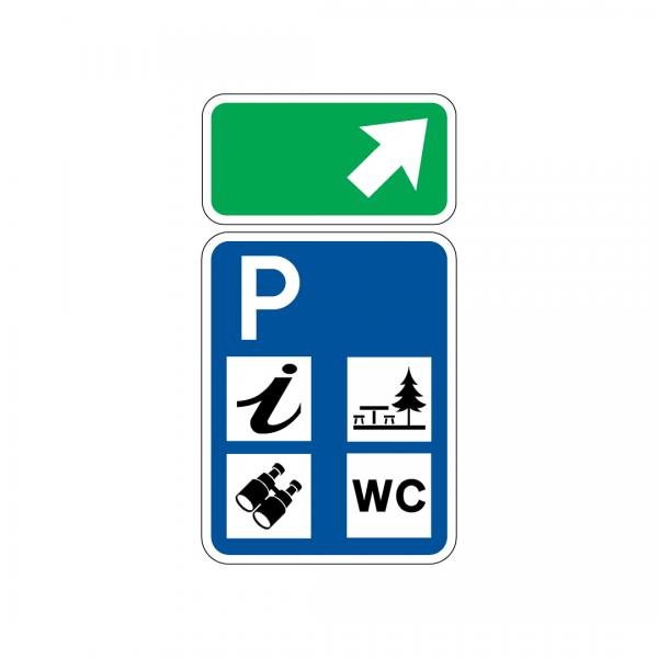 I5B - Aproximação de via de saída para uma área de repouso - Sinais de Pré-Sinalização