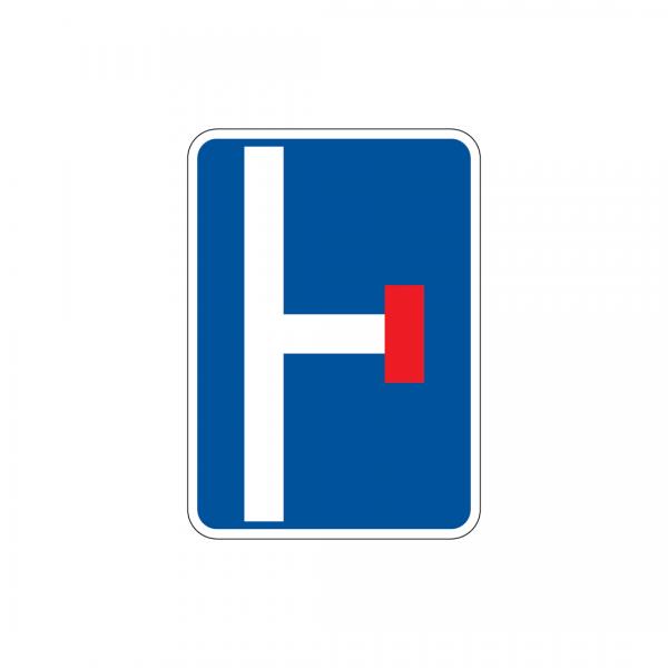 I7B - Pré-sinalização de via sem saída - Sinais de Pré-Sinalização