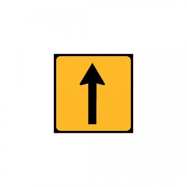 TC1/ST1a – Painel indicativo da circulação 1 via na direção da circulação - TC | Painéis Temporários de Circulação