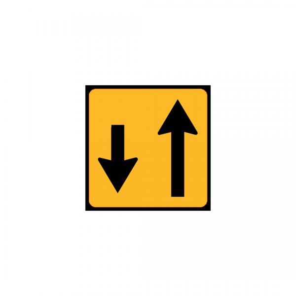 TC11B - Painel indicativo de circulação 1 via na direção da circulação e 1 via no sentido contrário - TC | Painéis Temporários de Circulação