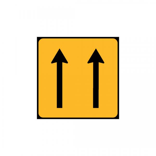 TC2/ST1b – Painel indicativo da circulação 2 vias na direção da circulação - TC | Painéis Temporários de Circulação