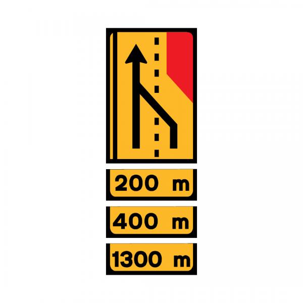 TD1-ST2 - Painel de estrangulamento à direita (2 vias) Desvio da via direita para a via esquerda - TD | Painéis Temporários de Desvio