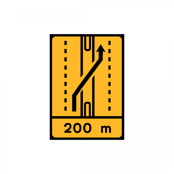 TD10 - Desvio de faixa (2×2 vias) Desvio da via esquerda para a via esquerda da faixa contrária - TD | Painéis Temporários de Desvio