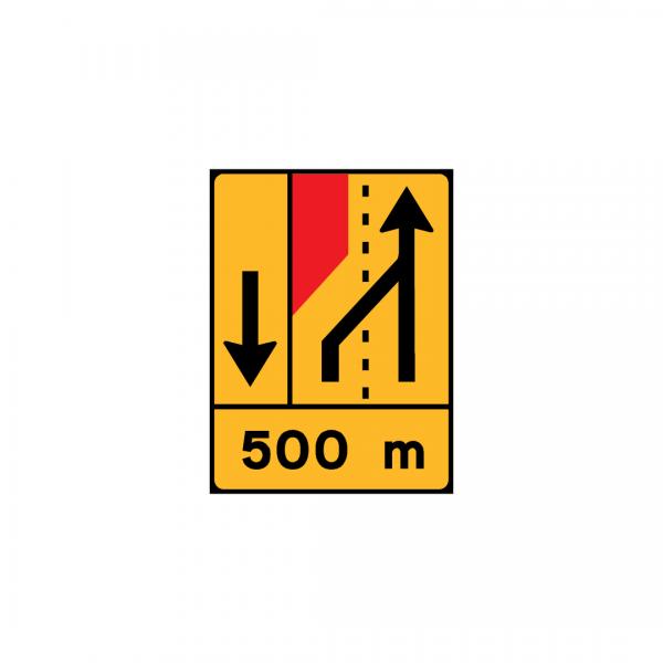 TD18 - Painel de estrangulamento à esquerda (1×2+VL) Desvio da via adjacente para a via de lentos - TD | Painéis Temporários de Desvio