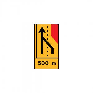 TD19 - Painel de estrangulamento à direita (1×4) Desvio da via direita para a via esquerda - TD | Painéis Temporários de Desvio