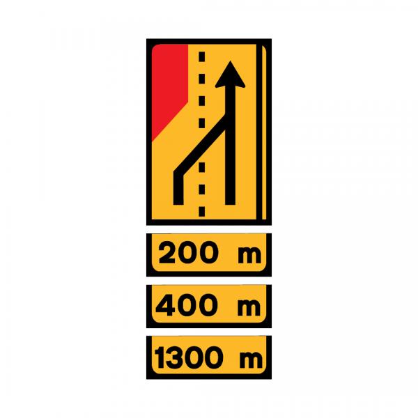 TD2 - Painel de estrangulamento à esquerda (2 vias) Desvio da via esquerda para a via direita - TD | Painéis Temporários de Desvio