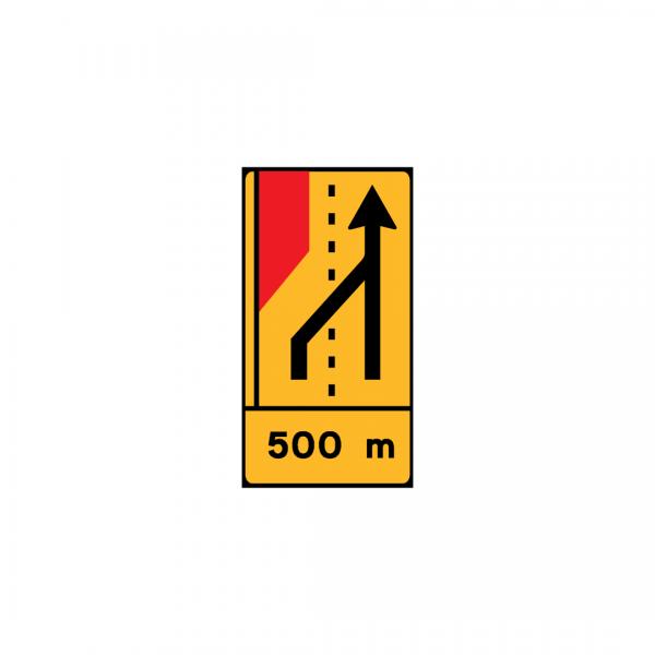 TD20 - Painel de estrangulamento à esquerda (1×4) Desvio da via esquerda para a via direita - TD | Painéis Temporários de Desvio