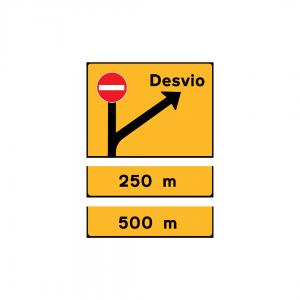 TD21-ST7 - Painel de desvio de itinerário - TD | Painéis Temporários de Desvio